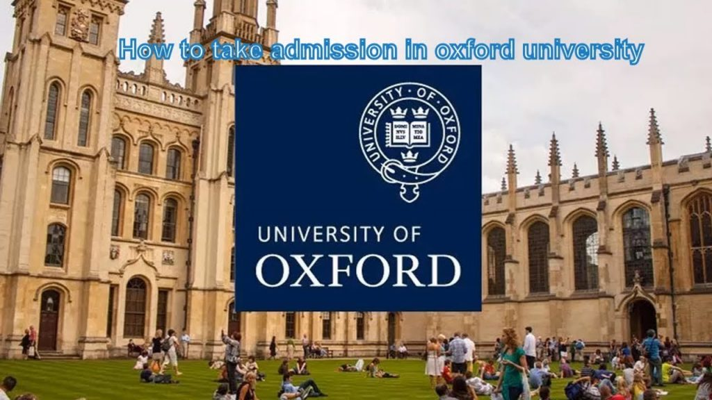 Get admission in oxford university
